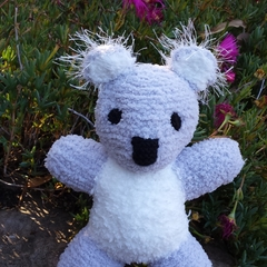Koala Baby soft toy. Hand knitted softie. Australian gift baby, child.