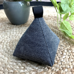 Doorstop 'Black Mini Dot design'  Regular size