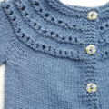 Little Cardigan - Hand Knitted - Size 0 - Bamboo/Merino