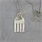 Cat pendant necklace made from vintage recycled fork