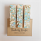 Aqua Blue Cherry Blossoms - Chunky Magnet Pegs - Magnetic Memo Pegs - Set of 3