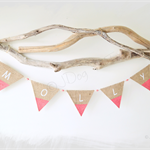 5 Letter Personalised Name Bunting Boho Baby Shower Nursery Custom Wooden Beads
