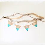 4 Letter Personalised Name Bunting Boho Baby Shower Nursery Custom Wooden Beads