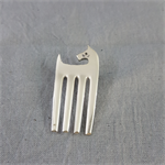 Brooch made from silver plated fork