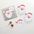 12 Santa Claus Lollipop holders. Chuppa Chup cards.