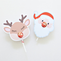 12 Reindeer Lollipop holders. Chuppa Chup cards.