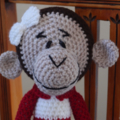 Molly - Hand crocheted monkey by CuddleCorner : OOAK, Washable, safe
