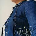 Eye Glasses Holder - PINK multi mix / Japanese kimono cord / FREE SHIPPING