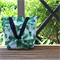 Green Palm Leaf Canvas Tote Bag
