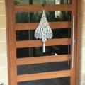 Macrame christmas tree wall hanging