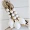 3 Cowrie Shell Christmas Wood Bead Ornaments Baubles Boho Coastal Hamptons Decor