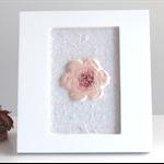 Framed ceramic flower in mosaic