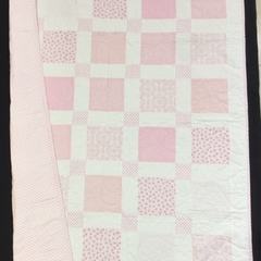No 70 - Pink and white squared quilt/play mat