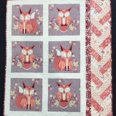 No 77 - Fox and owl quilt/play mat
