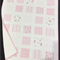 """No 61 - Pink and white squared quilt 33.5"""" x 40"""""""
