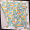 """No 67 - Animal quilt/play mat Turquoise/grey  42"""" x 44"""""""