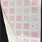 """No 62 - Quilt/play mat Pink and white squared  33.5"""" x 40"""""""