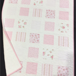 No 61 - Pink and white squared quilt
