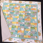 No 67 - Animal quilt Turquoise/grey 