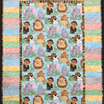 "No 55 - Jungle Baby Multi Panel 45"" x 31.5"""