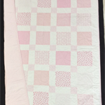 No 70 - Pink and white squared quilt