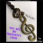 YOU ARE MY FAVOURITE SONG - necklace