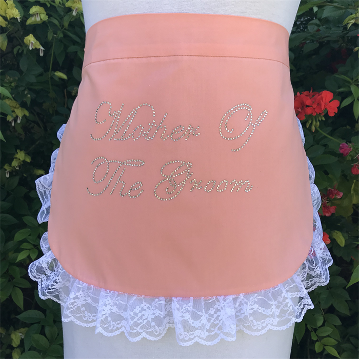 coral kitchen tea bridal shower apron personalised made to order