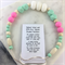 Natural wood and BPA free silicone nursing necklace- mint green, white and pink