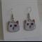 Fiona's Enamel Cat Earrings