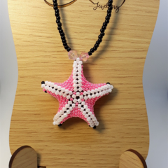 Pink Star Pendant Necklace