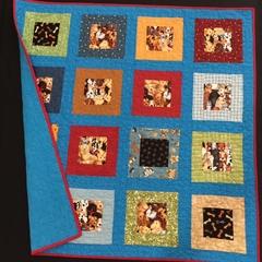 """P9 - Spotty Dog Quilt/Play mat 41"""" x 40"""""""