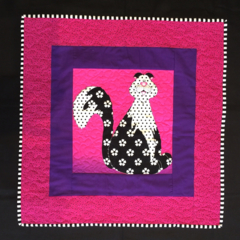 P1 - Pink and Purple Cat change mat