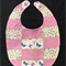 B6 - Pink Butterfly bib with toweling back
