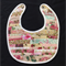 B2 - Pink stripe bib with toweling back