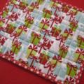 Mug Rug - Patchwork - Red and Green - Christmas