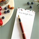 Bambusa 'Live, Laugh, Love' DL Notepad
