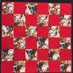 """P14 - Red Puppy Quilt 33"""" x 33"""""""