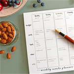 Bambusa A4 Weekly Meals Planner