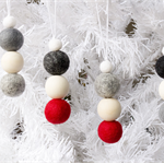 Felt Christmas Ornaments x 8. Felt Bead Ornaments Hanging. Felt Ball Ornaments.