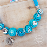 Teal Turquoise - Button Lime Fresh Fusion Necklace - Button Jewellery - Earrings