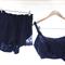 Audrey ~ Blue Satin Silk Sleep Set ~ Old Parisian Glamour Collection