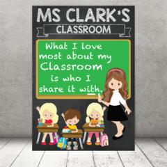 """I love my Classroom"" Personalised Teacher Classroom Digital Print (PDF)"