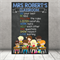 """Class Rules."" Personalised Teacher Classroom Digital Print (PDF)"