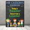 """Today a reader"" Personalised Teacher Classroom Digital Print (PDF)"