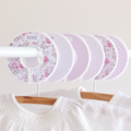 Wardrobe dividers. Girls Pink Florals. Shabby Chic. Set of 6. Closet organisers.