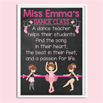 """Dance Teacher"" personalised Digital Print"