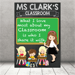 """I love my Classroom"" Personalised Teacher Classroom Digital Print (PDF)"