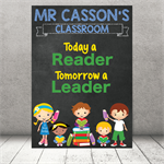 """Today a reader"" Personalised Teacher Classroom Digital Print (PDF)"