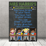 """Brains in your head."" Personalised Teacher Classroom Digital Print (PDF)"