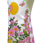 Metro Retro Summer Hedgerow Flowers Kitchen APRON - Birthday - Christmas Gift